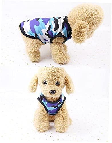 Chaleco de Perro Puppy Camuflaje Camiseta sin Mangas Camiseta Mascota de Malla de Malla de Verano Ropa S 3PCS