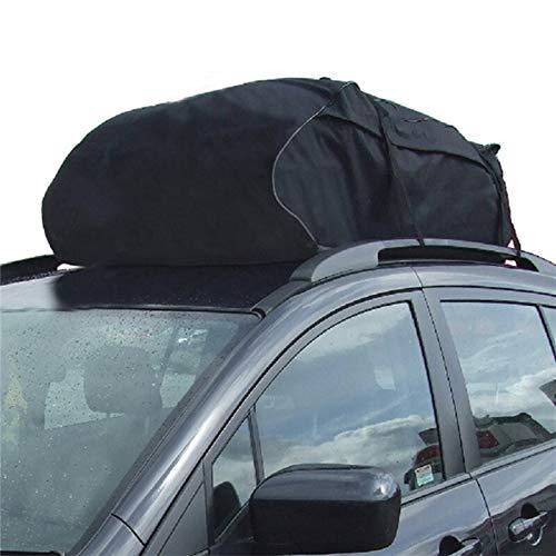 Car Style Roof Top Bag bagagedrager bagagedrager bagagedrager bagagedrager reisbagage zwart waterdicht zacht opvouwbaar voor reizen SUV Van voor auto daktas