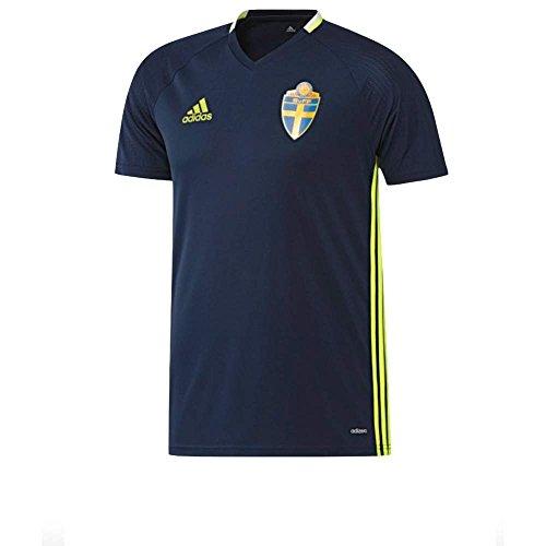 adidas Herren Schweden Trainingstrikot - blau Trikot, Conavy/SYELLO, XS