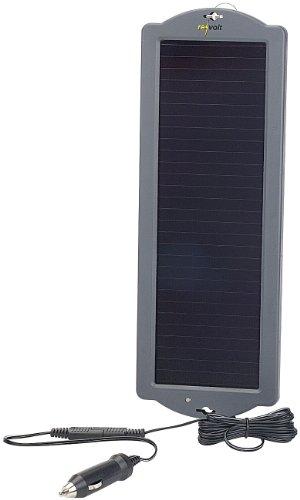 REVOLT Solar Auto: Erhaltungs-Solargerät für Auto- / PKW-Batterie 12V, 1,5W (Solar Ladegerät 12V)