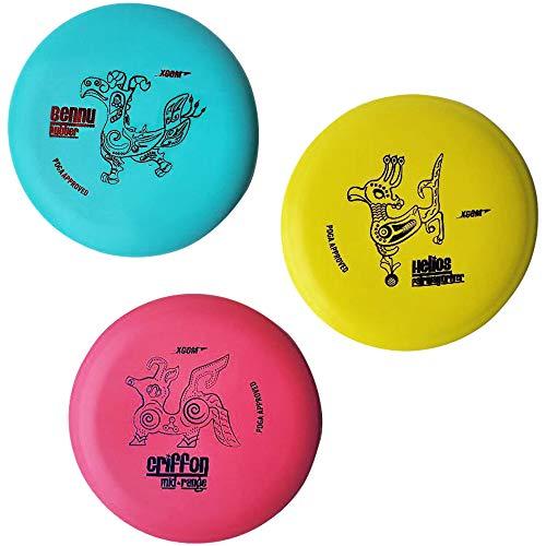 PINCKWILL Frisbee Golf Disc Golf Starter Set of 3 Beginner Disc Golf Pack for Men Women Kids Outdoor Sport and Game 3 Color Kit