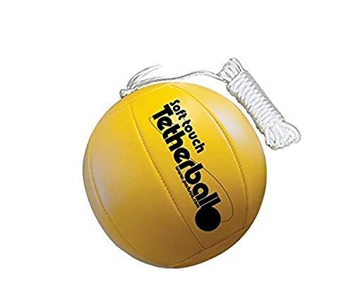 Park & Sun Sports Balle d'attelage Douce avec Cordon en Nylon 2,1 m et Clip, Mixte Adulte, BALL-300TB, Jaune Classique, 7in