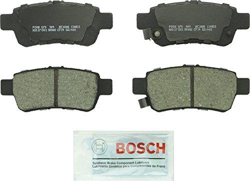 Bosch BC1088 QuietCast Premium Ceramic Disc Brake Pad Set For 2005-2010 Honda Odyssey; Rear