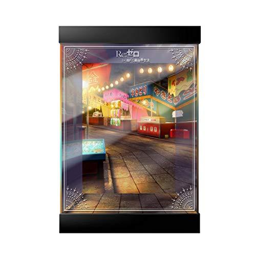 SNH Kadokawa Re: Das Leben in Einer Anderen Welt from Scratch Bademantel Rem Multi-Modell-Speicher Acryl-LED-Lampe HD Hintergrund Inkjet Display Box Handmade GK Staubschutz 20 * 20 * 30 cm Höhe