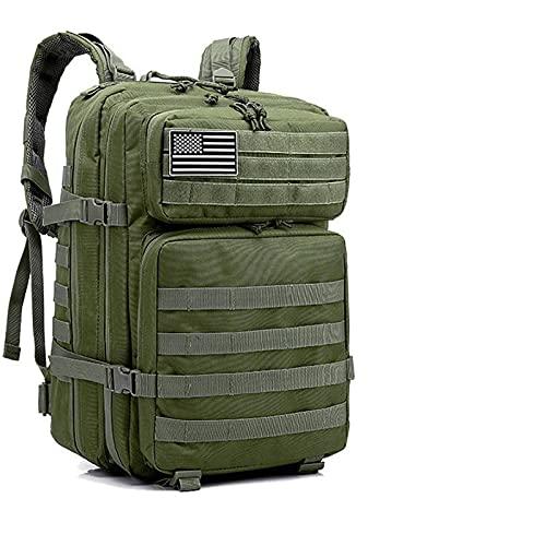 N\C Mochila táctica Militar 50L Mochila de Asalto del ejército Hombres Senderismo Viaje Caza Camping Bolsa Impermeable al Aire Libre