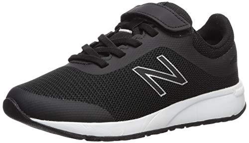 New Balance Boys' 455v2 Running Shoe, Black/White, 1 Wide US Little Kid