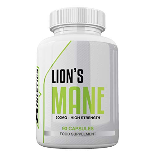 Lion's Mane 500mg - 90 Lion's Mane Capsules - Vegan & Vegetarian Friendly - Suitable for Both Men & Women - UK Made