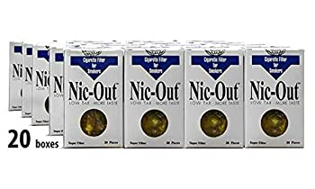 Filters Cigarette Packs 20 TOTAL NIC-OUT Zen Tubes Nic Tar Out Rolling Less Tar and Nicotine  600 Filters