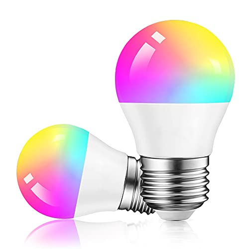 Alexa Small Glühbirnen E27/G45 Smart LED Lampe, Dogain WLAN Mehrfarbige Dimmbare Birnen, App Steuern Kompatibel mit Alexa Echo, Google Home, kein Hub benötigt, RGB Timer, Warmweiß/Kaltesweiß licht