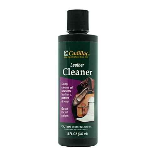 Cadillac Leather Cleaner - Great for Shoes, Boots, Handbags, Car Upholstery, Furniture- Removes Surface Dirt, Grime, Salt and More From Finished Leathers