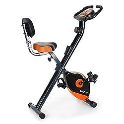 Klarfit X-BIKE-700 - ergometer, exercise bike, fitness bike, cardio-bike, integrated hand-held pulse meter, 8-stage Adjustable resistance, max. 100kg body weight, orange, blue or green