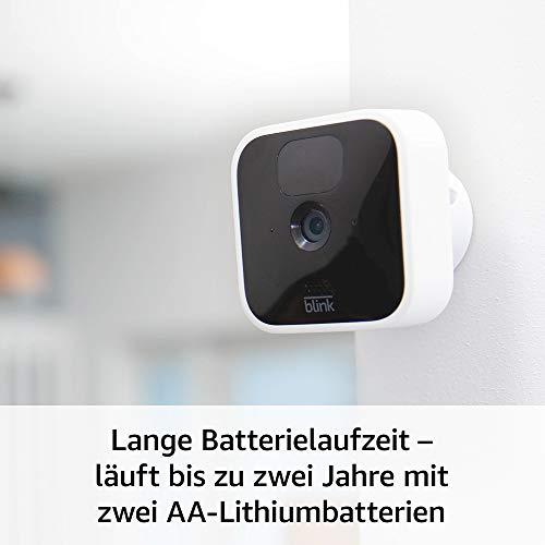 Die neue Blink Indoor – kabellose HD-Sicherheitskamera mit zwei Jahren Batterielaufzeit, Bewegungserfassung und Zwei-Wege-Audio | System mit einer Kamera