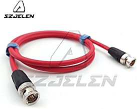 SZJELEN 12G 75-Ohm HD-SDI Neutrik BNC to BNC Video Coaxial Cable for 4K Video Camera,50cm (Red Cable)