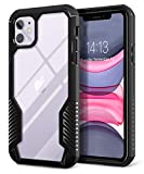 MOBOSI Vanguard Armor Designed Compatible with iPhone 11 Case, Rugged Cell Phone Cases, Heavy Duty Military Grade Shockproof Drop Protection Cover Compatible with iPhone 11 6.1 Inch 2019 (Matte Black)