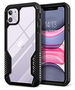MOBOSI Vanguard Armor Designed Compatible with iPhone 11 Case Rugged Cell Phone Cases Heavy Duty Military Grade Shockproof Drop Protection Cover Compatible with iPhone 11 6.1 Inch 2019  Matte Black