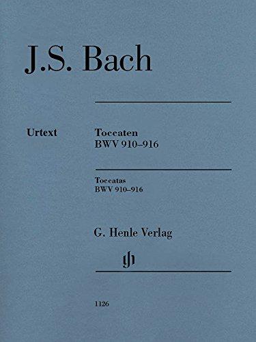 Toccaten BWV 910-916 für Klavier; Ausgabe ohne Fingersätze