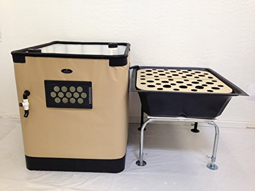 Aquaponics System Complete Kit | Genesis G-24 Model | Includes 24 Sq. Ft. Grow Bed, 140 Gallon Fish Tank, Pre Cut Plumbing, Pumps, Clay Pebbles