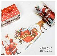 サンタクロース和紙テープから9センチ幅のクリスマスギフト粘着テープDIYスクラップブッキングステッカーラベルマスキングテープ