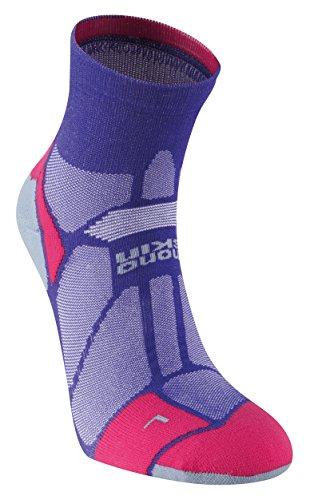 Hilly Marathon Fresh Anklet - Purple/Pink/Grey, Medium