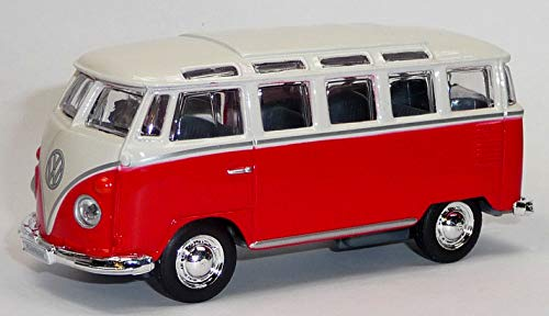 generisch VW Bus Bulli T1 Samba rot / weiß Modellauto ca. 1:40