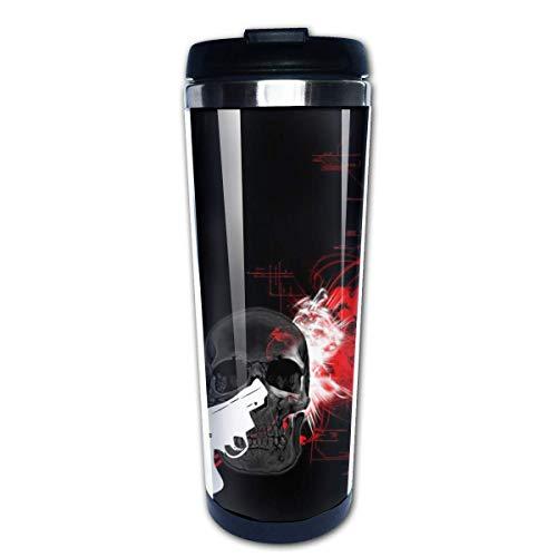 Taza de café de viaje Cráneo de bala Taza de café con aislamiento de acero inoxidable Botella de agua deportiva 13.5 oz (400 ml) MUG-3254