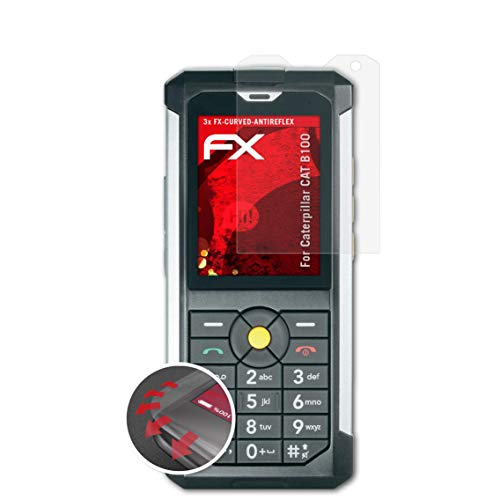 atFolix Schutzfolie kompatibel mit Caterpillar CAT B100 Folie, entspiegelnde & Flexible FX Bildschirmschutzfolie (3X)