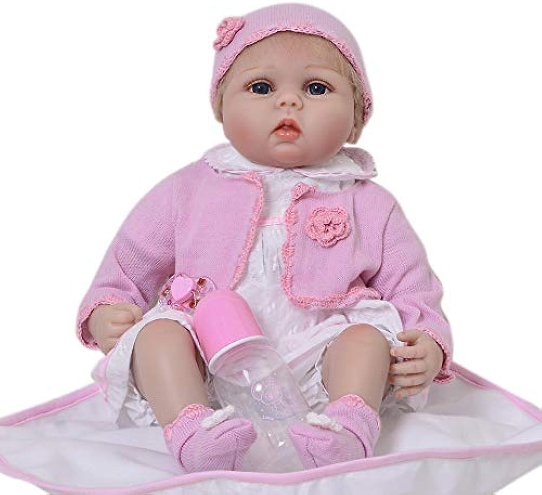 MCCW Wiedergeborene Baby-Girl Doll, die Real Cuddle Bear Bella, 21 Zoll Soft GentleTouch Vinyl, Sicherheit getestet für das Alter 3 +, 6-Piece Gift Set