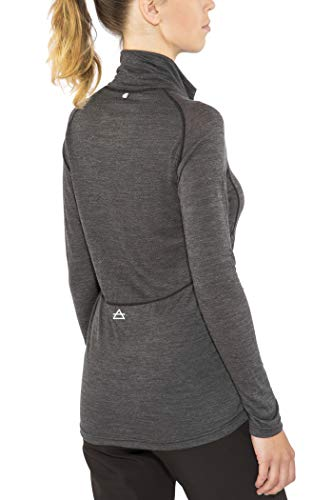Devold Running Zip Neck LS Top Women, Anthracite Modèle M 2019 T-Shirt Manches Longues