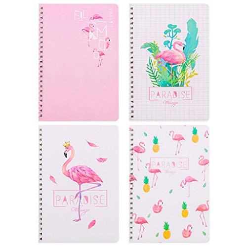 LZL Diario Cuaderno Espiral - Juego de Cuadernos Thicken (Paquete de 4) Diario del Estudiante/Tarea/Bloc de Notas/Registro de Oficina Cuaderno (Color : B)