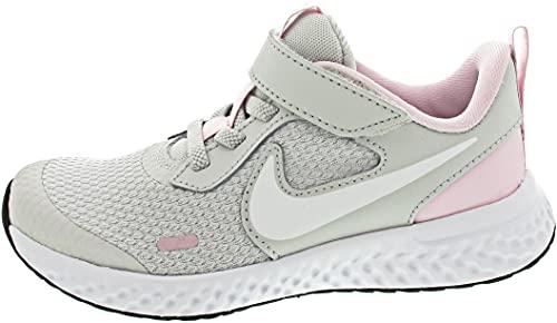 Nike Revolution 5, Zapatos de Tenis Unisex niños, Photon Dust White Pink Foam, 32 EU