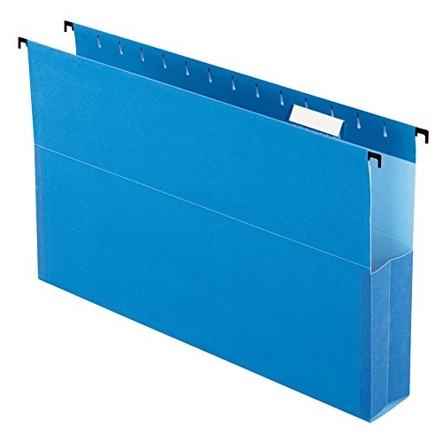 Pendaflex SureHook Reinforced Hanging Box File, 2', Legal, Blue, 1/5 Cut, 25 per box (59302EE)
