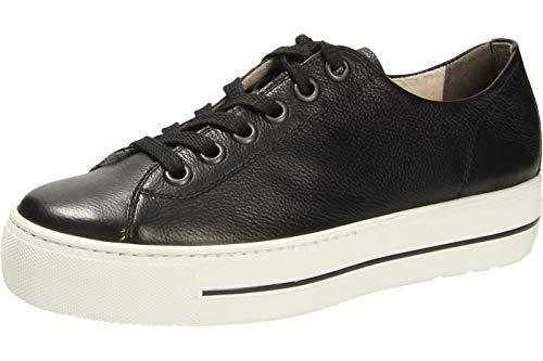 Paul Green 4790-024 Damen Sneaker Low aus feinem Glattleder mit 30-mm-Plateau, Groesse 39, schwarz