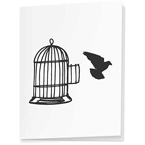 Azeeda 4 x 'Bird Leaving Cage' Gift Tags / Labels (GI00036329)