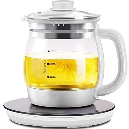 WFFF Bouilloire électrique 1200 W, Cuisine Domestique, théière en Verre épaissi entièrement Automatique de 1,8 L, théière Intelligente à Conservation de la Chaleur de 72 Heures
