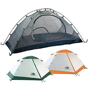 Hyke & Byke Tente de Camping et de Randonnée Yosemite 1 ou 2 Personnes avec Bâche de Sol Incluse ? Tente Ultralight Double Porte en Forme de Dôme