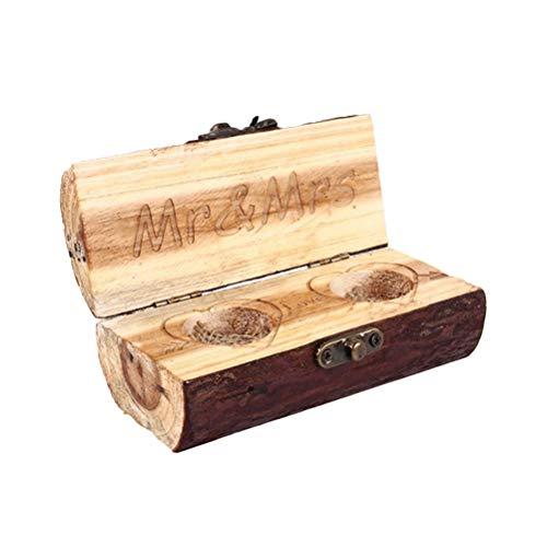 VOSAREA Holz Ringbox Handgefertigte Ringbox für Hochzeit Valentinstag Verlobungsring