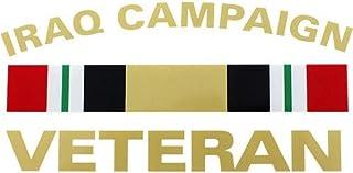 "Iraq Campaign Veteran with Campaign Ribbon 5.75""x3"" Decal"