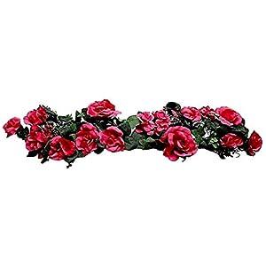 "Silk Flower Arrangements 30"" Swag Rose Hydrangea Silk Wedding Artificial Flowers"