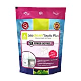 ORGANICA Bioclean Septic Plus 5X Power Septic Tank Cleaner and Odour Remover for Severe Problems (Single Pack-250 gm)