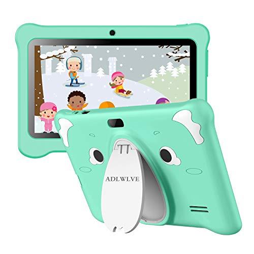 Tablet para Niños con WiFi, IPS 7 Pulgadas Tablet Infantil de Android 10.0 Quad Core 3GB RAM + 32GB /128 GB ROM | WiFi, | Control Parental, Educativo Software para niños preinstalado (Verde)