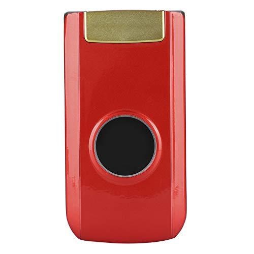 Sojare Mini teléfono móvil con Tapa de 2,4 Pulgadas, 32 MB + 32 MB de Larga Espera, teléfono móvil gsm portátil con Doble Modo de Espera para Anciano, resolución de Pantalla de 240x320(Rojo)