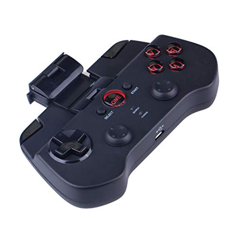 HUATINGRHPM Intelligent Gaming Controller,Wireless Gamepad Joystick mit Versenkbare Halterung für Android Smartphone/Smart Handy/Smart TV/TV Box/Samsung Gear VR/Windows Computer Mini