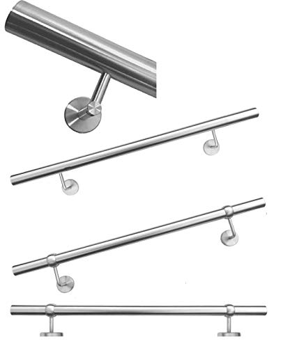 Handrail Stainless Steel Exterior / Indoor Wall Handrail Railing 4 Different Variations (Concealed Screwed 1000 mm)
