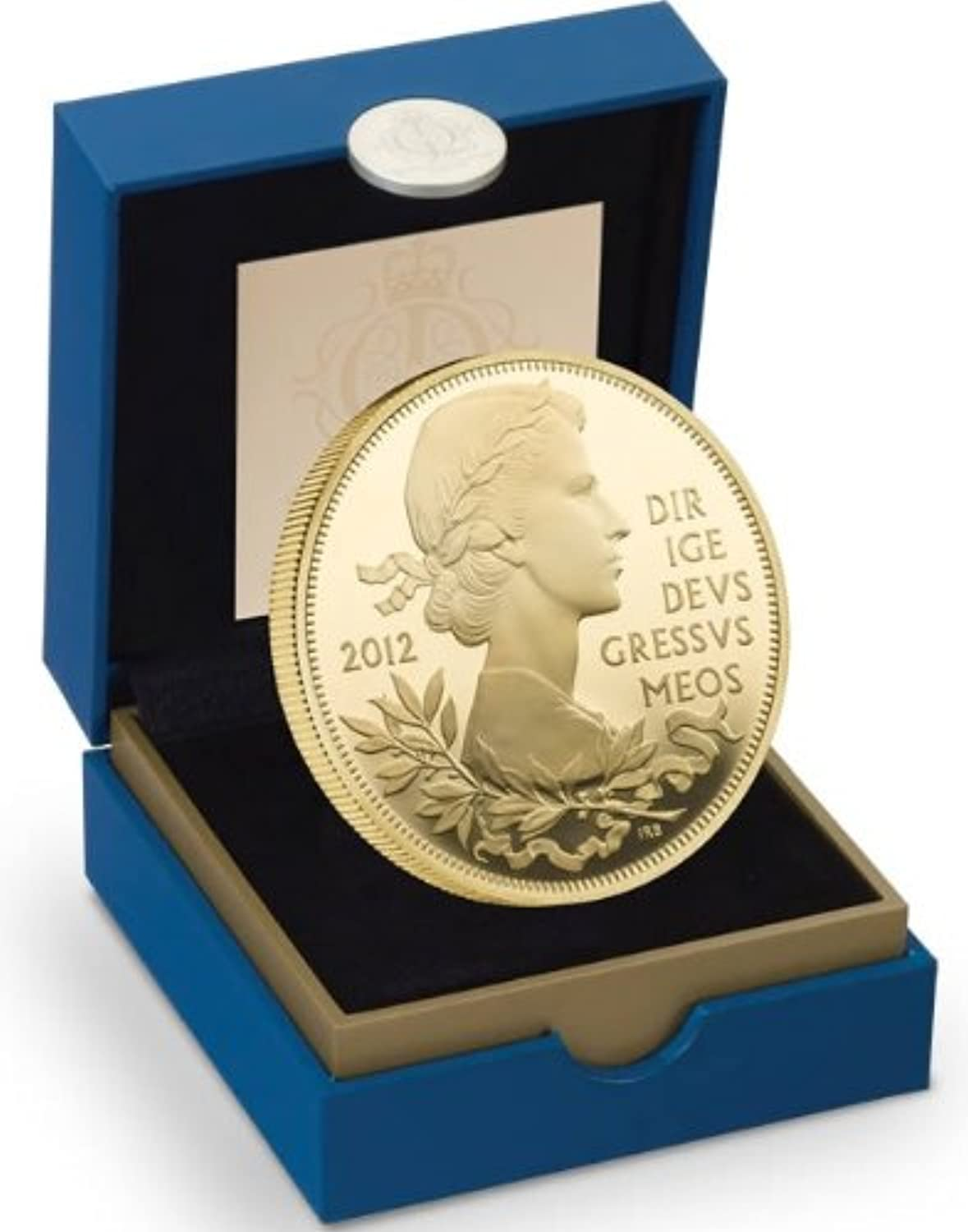 Royal Mint The The Queen's Diamond Jubilee gold Plated Silver Proof Coin