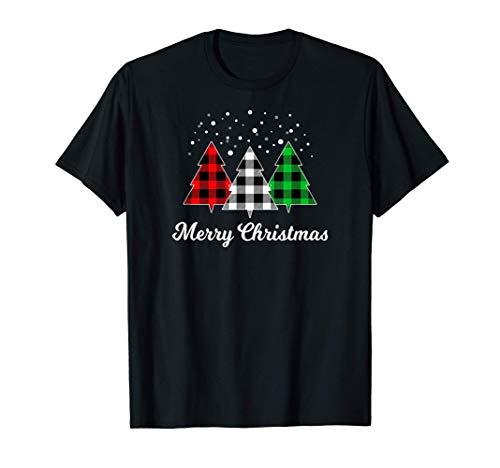 Christmas Tree Santa Xmas Christmas July Holiday Plaid Funny T-Shirt