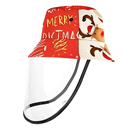 TIZORAX - Cappellino protettivo a forma di renna di Babbo Natale con protezione per naso e bocca con protezione antipolvere per adulti e bambini