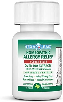 TexaClear Homeopathic All Season Cedar Allergy Relief Tablets for Texas Allergies Non Drowsy product image