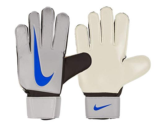 Nike NK GK MATCH-FA18 - Guanti da portiere, unisex, per adulti, argento (Metallic Silver/Black/Racer Blue), 9