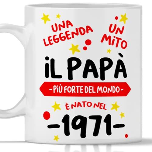 Tazza compleanno 50 anni papà, regalo per uomo