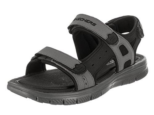 Skechers Men 51874 Ankle Strap Sandals, Black (Black/CHARCOAL), 7 UK (41 EU)